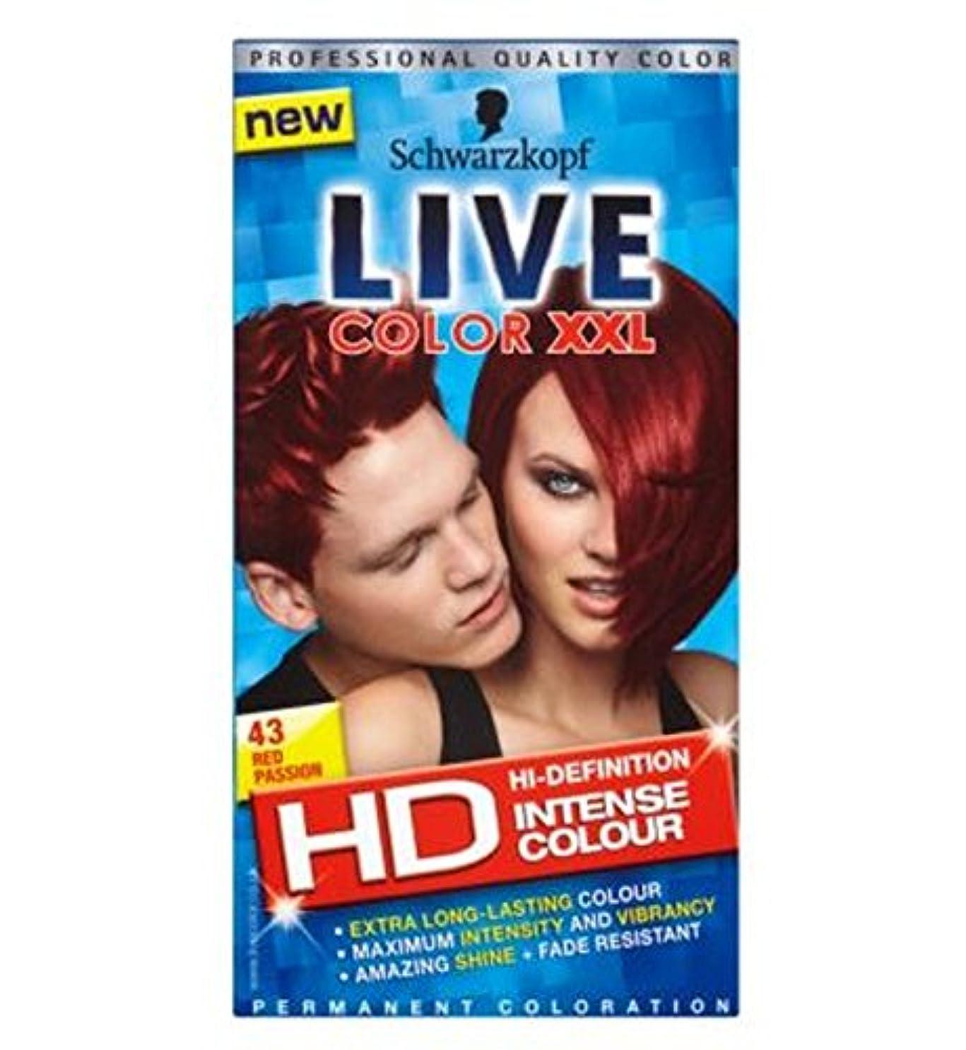 ウミウシ立派なラグSchwarzkopf LIVE Color XXL HD 43 Red Passion Permanent Red Hair Dye - シュワルツコフライブカラーXxl Hdの43赤い情熱パーマネントレッドヘアダイ...