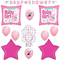 It 's A GirlベビーシャワーElephant Balloons Decoration Suppliesセット