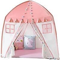 DD子供再生テント赤ちゃんゲーム人形Houseインドアアウトドアキャンバス折り曲げレースのパックの家(ピンク、ブルー150150100 CM 1 ) ピンク 14778