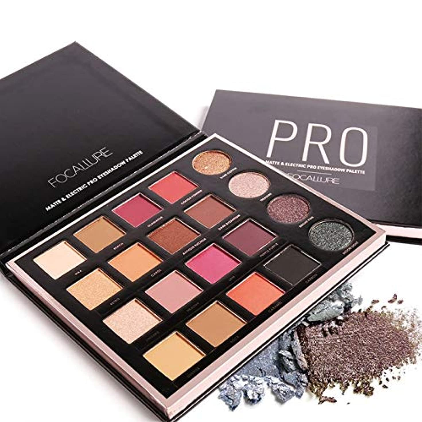 冒険哲学大気New Glitter Eye Shadow Palette 20 Color Mineral Eye Shadow Makeup Shimmer Pigment Warm Nude Metallic Eyeshadow...