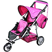 Mommy & Me Twin Doll Jogger 9669DL with Free Carriage Bag [並行輸入品]