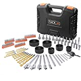 Drill Bit Set, TACKLIFE 106pcs Drilling and Driving Kit, Titanium, Masonry and Spade Drill Bits Set, Hole Saw Kit, Screwdriver and Nut Driver bits, Complete Set for Metal, Wood, Masonry and Plastic