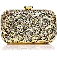 Evening Wedding Sequins Clutch Handbag Bag Dress Dinner Bag Small Purse Bridesmaid Handbag for Women,Gold,5.5 * 10 * 17cm
