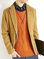 (モノマート) MONO-MART 暖 ケーブル編み ニット セーター Uネック 起毛 ゆる シルエット ふんわり フィッシャーマン カラー 長袖 メンズ