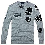 2743(ハイドロゲン) 2016 メンズ Tシャツ おしゃれ ブランド ドクロ スカル カジュアル 長袖 HYDROGEN (XL, Fgray)