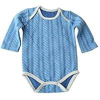 ベビー服 長袖ショルダーロンパース肌着 長袖カバーオール 綿100% ボディスーツ カバーオール パジャマ 男の子 女の子 出産祝い 洗え便利 3枚組70cm 80cm 90cm ブルー