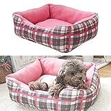 Ninkipet(ニンキペット)洗えるペット用ベッドマット ペット用ソフ クッション 中小型犬/猫用 (ピンク)