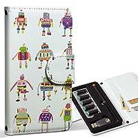 スマコレ ploom TECH プルームテック 専用 レザーケース 手帳型 タバコ ケース カバー 合皮 ケース カバー 収納 プルームケース デザイン 革 ロボット 機械 013509