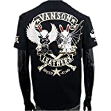 (バンソン) vanson×クローズ×WORST半袖Tシャツ (M) 黒