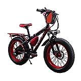 Cyrusher RT-015 FATBIKEファットバイク電動バイク20 インチ 自転車 シマノ製 7段 変速ギア付き ディスクブレーキ4色 極太タイヤ BMX マウンテン バイク クロスバイク 350w 36v 大容量の10.4Ahリチウムバッテリー