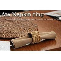 アタで編まれたナプキンリング