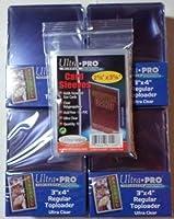 100 Ultra Pro Toploader + 100 Soft Sleeves-Ultra Clear-4 Packs-Regular 3 x 4-Top Loader-Magic:The Gathring-Yu-Gi-Oh!