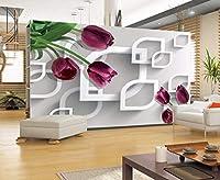 Minyose 壁紙 カスタム壁紙モダン透明花の高級ジュエリー壁の壁紙リビングルームテレビの背景の壁3Dの壁紙