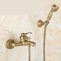 全銅のシャワーの花は簡易花片のシャワーの蛇口の模造のバスタブの花がこぼれます,e