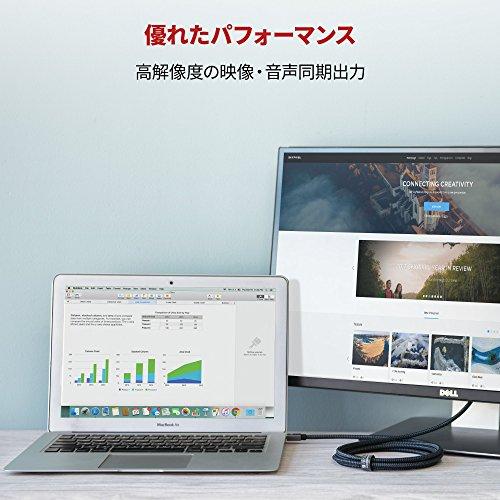 『Mini DisplayPort→HDMI 変換 ケーブル iVANKY【フルHD1080P対応/2M/保証付き】 Surface Pro/Dock, Mac, MacBook Air/Pro, iMac, ディスプレイ, AV アダプタ対応 Thunderbolt 2 to HDMI 耐久変換ケーブル Mini DP ミニディスプレイポート サンダーボルト』の5枚目の画像