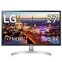 【Amazon.co.jp 限定】LG モニター ディスプレイ 27UL500-W 27インチ/4K/HDR(標準輝度:300cd/㎡)/IPS非光沢/HDMI×2 DisplayPort/FreeSync/ブルーライト低減