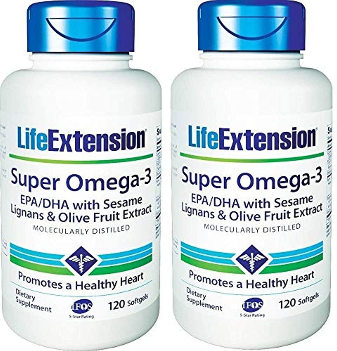 罰する額リングLife Extension - Super Omega-3, EPA/DHA with Sesame Lignans & Olive Extract - 120???????