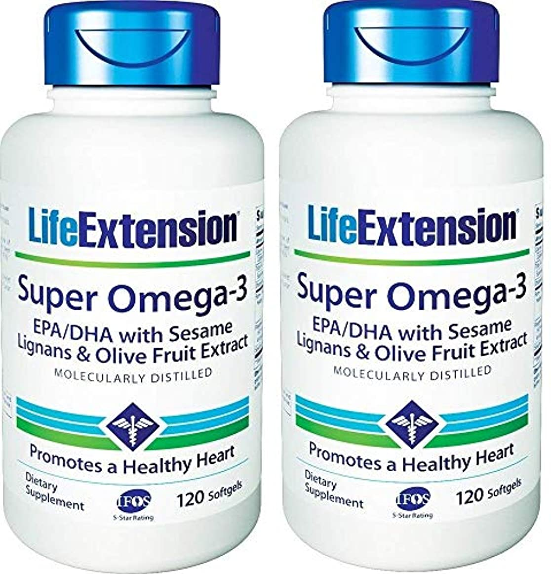 全体追跡ハムLife Extension - Super Omega-3, EPA/DHA with Sesame Lignans & Olive Extract - 120???????