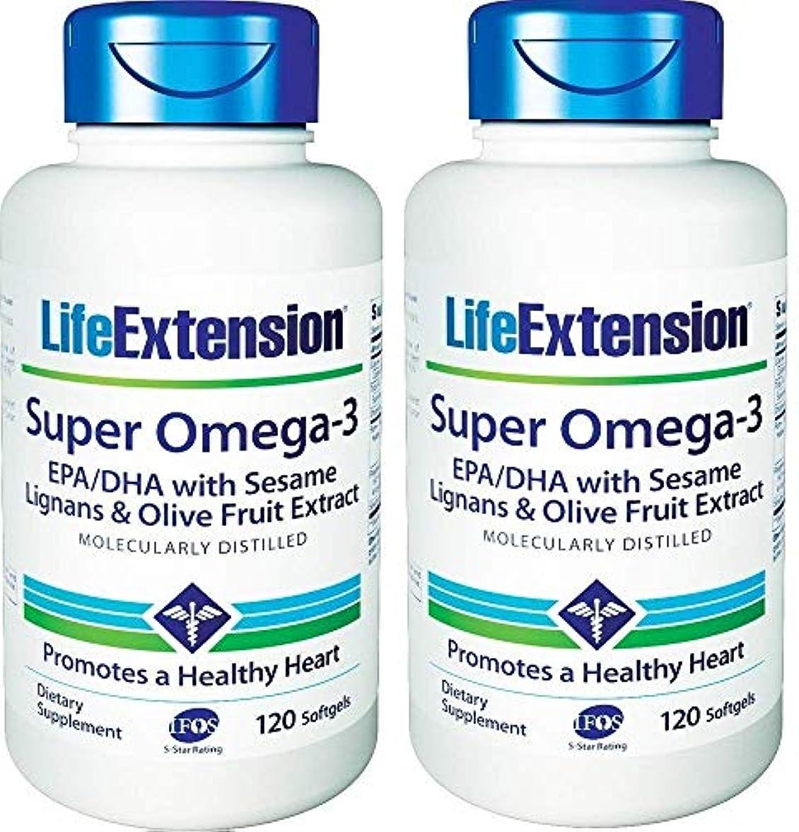 やさしい惑星分数Life Extension - Super Omega-3, EPA/DHA with Sesame Lignans & Olive Extract - 120???????