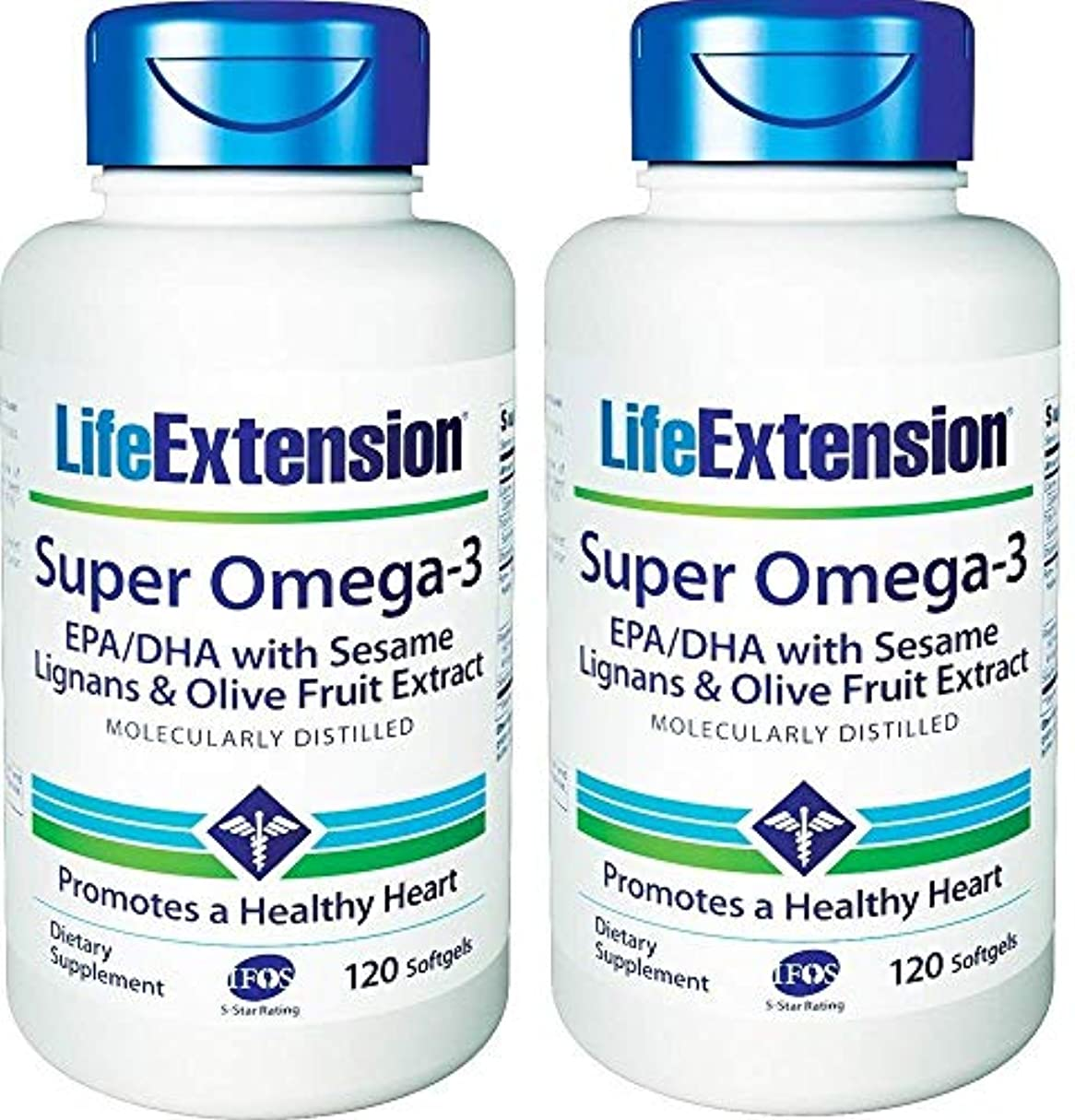 凍った特別な慰めLife Extension - Super Omega-3, EPA/DHA with Sesame Lignans & Olive Extract - 120???????