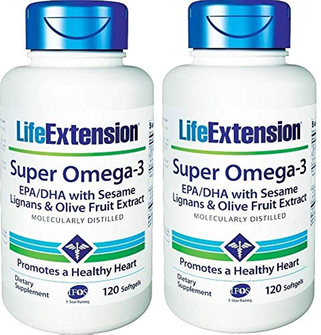 誇大妄想フォームサポートLife Extension - Super Omega-3, EPA/DHA with Sesame Lignans & Olive Extract - 120???????