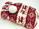 人気 かわいい 犬 ノルディック 服 コスチューム ワンピース フード 付き S M L サイズ 色 レッド ブラウン ピンク (レッド, M)