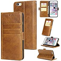 iPhone 6 Plus iPhone 6s Plus Wallet Case, MrStar [ Folio Style ] Premium iPhone 6 Plus iPhone 6s Plus Card Cases STAND Feature for iPhone 6 Plus iPhone 6s Plus [Brown ]新しい Flip Cover with 新しい