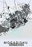"""Notebook: Mogadishu Somalia City Map , Journal for Writing, College Ruled Size 6"""" x 9"""", 110 Pages"""