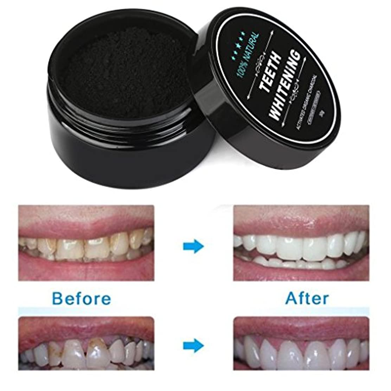 賢明なダイヤル怖がらせるSakuraBest 歯のホワイトニングパウダー天然有機活性化 炭竹の歯磨き粉