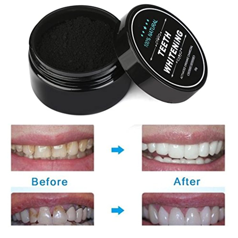 ヒステリックスペースラジカルSakuraBest 歯のホワイトニングパウダー天然有機活性化 炭竹の歯磨き粉
