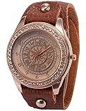 [エーエムピーエム24]AMPM24 ローズゴールド クリスタル ウィメンズ 星座 パターン ブレスレット クォーツ腕時計WAA649