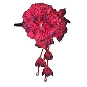 [粋花] Suika フラワークリップ 4054 赤