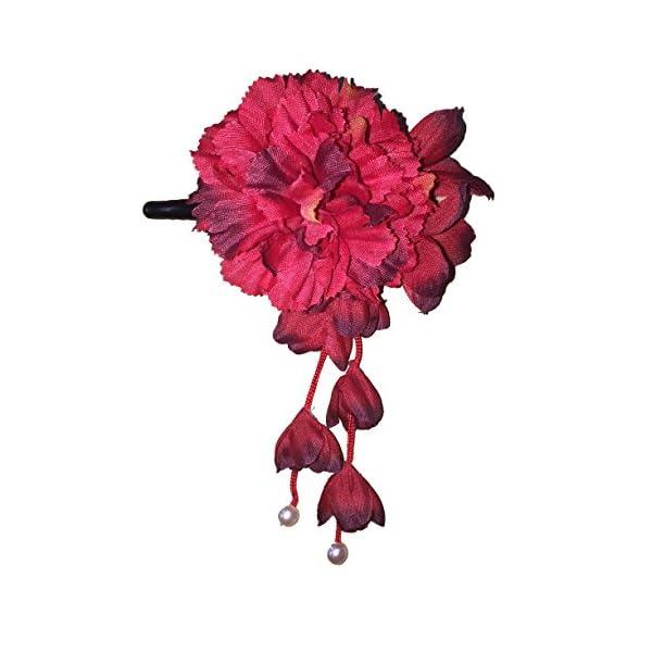 [粋花] Suika フラワークリップ 4054 赤の商品画像