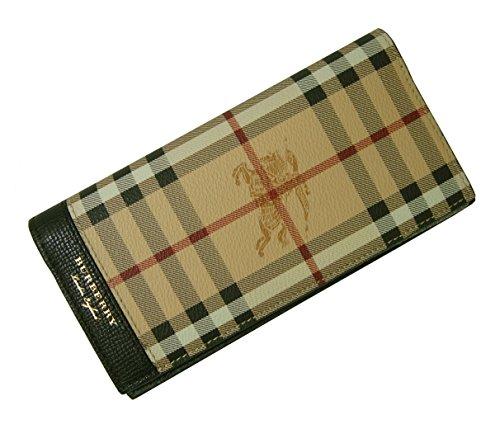 (バーバリー) 長財布 メンズ カード大容量 二つ折り ヘイマーケット ブラック BR-1367 [並行輸入品]