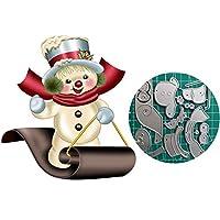 カッティングダイ [クリスマス雪だるまま]手作り 描画テンプレート ナーリング DIY クラフト アルバム カード 絵図 手帳用 紙飾り用 カード作り道具 ペーパーカット-シルバー クリスマス 新年 用-Silver