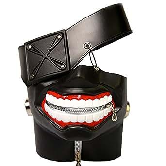 マスク 金木 研 コスプレ道具 ハロウィン コンパ 歓迎会 宴会仮装 仮面 コスチューム (フリーサイズ)