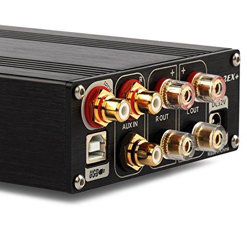 Dilvpoetry TOPPING TP32EX+ デジタルHIFIパワーアンプ 75W*2 USB DACデコーダ ヘッドフォンアンプ