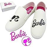 Barbie バービー スリッポン 【ホワイト Lサイズ(24~25cm)】 レディース スニーカー 靴 バービー グッズ