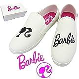 レディース 靴 Barbie バービー スリッポン 【ホワイト Mサイズ(23〜24cm)】 レディース スニーカー 靴 バービー グッズ