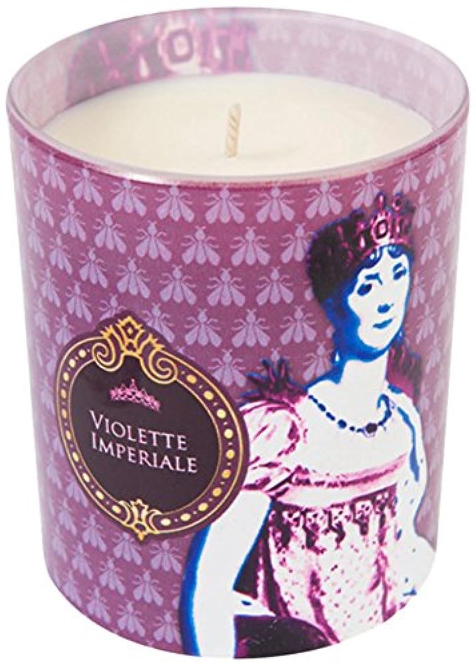 ヒューバートハドソン巧みなケージヒストリア ポップアートキャンドル ウ゛ィオレット スミレの花の香り
