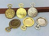 ▲ミール皿 懐中時計 B 5個入り 内径20mm 奧2mm セッティング ビンテージ  真鍮古美