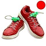 コンバース ベビーシューズ ZooooM 左右セット LED 靴紐 光る クツ イベント 靴 スニーカー イルミネーション パーティー グッズ おもしろ ひも 面白 カラフル 紐 賑やか 足 脚 輝く ライト ユニーク (レッド) ZM-HIMOLED-RD