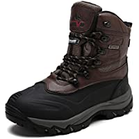 arctiv8 Men's Insulated Waterproof Construction Rubber Sole Winter Snow Skii Boots
