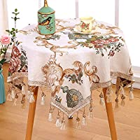 小さな丸いテーブル テーブル,ファブリック 綿 スモールフレッシュ 長方形 ラウンド コーヒーテーブル テーブル スクエア 牧歌的です レース ホーム-Q
