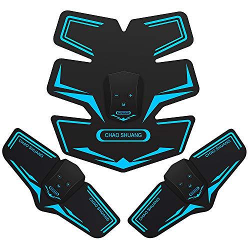 Muzik EMS 腹筋ベルト腕筋 筋トレマシン トレーニング ダイエット器具 11段階 6つモード USB充電式 日本語...