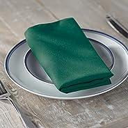 LA Linen 10-Pack Polyester Poplin Napkins 17 by 17-Inch, Teal