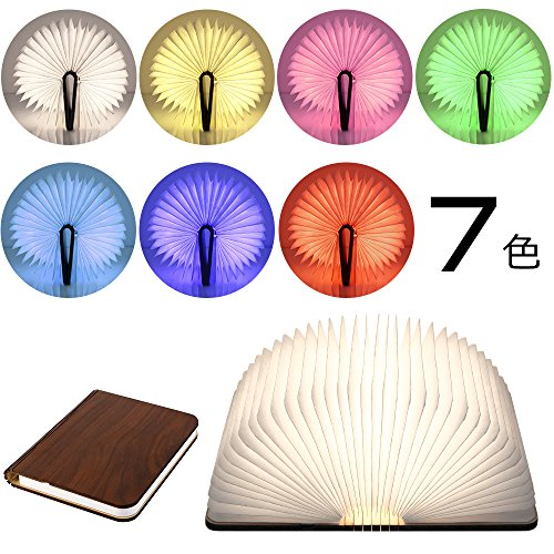 LEDベッドサイドランプ ブックライト 7色 ブックランプ ...