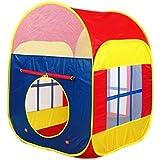 XYL STORE女の子と男の子のプレイテントを遊びで、ハウスの6面の2つのドアと2つのメッシュ窓ゲームプレイハウス