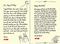 Quiplip Handwritten Yours Truly Birthday Cards 6-Pack (YT08106PCK) [並行輸入品]