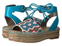 (サムエデルマン)Sam Edelman レディースファッションサンダル・靴 Neera Blue Multi Leather w/ Beading 6.5 23.5cm M [並行輸入品]